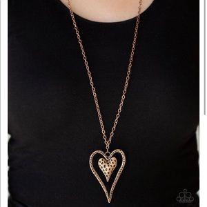 Long copper necklace